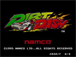 Title screen of Dirt Dash on the Arcade.