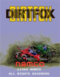 Title screen of Dirt Fox on the Arcade.
