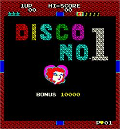Title screen of Disco No.1 on the Arcade.