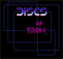 Title screen of Discs of Tron on the Arcade.