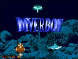 Title screen of Diver Boy on the Arcade.