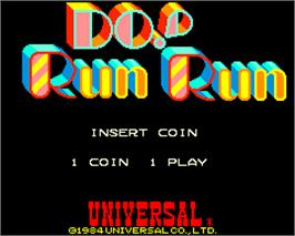 Title screen of Do! Run Run on the Arcade.
