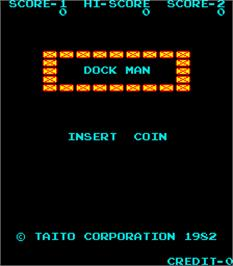 Title screen of Dock Man on the Arcade.