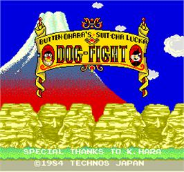 Title screen of Dog-Fight on the Arcade.