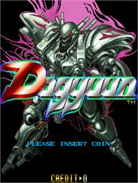 Title screen of Dogyuun on the Arcade.