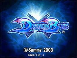Title screen of Dolphin Blue on the Arcade.