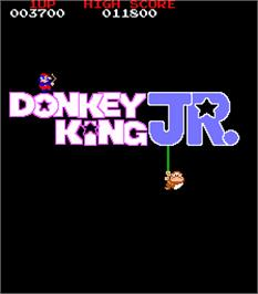 Title screen of Donkey King Jr. on the Arcade.