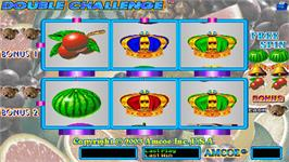 Title screen of Double Challenge on the Arcade.