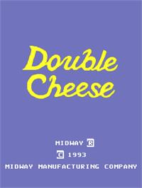 Title screen of Double Cheese on the Arcade.