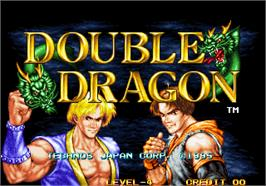 Title screen of Double Dragon on the Arcade.