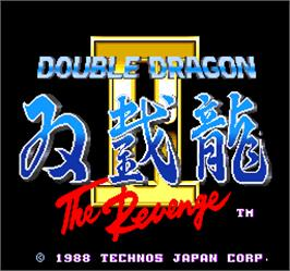 Title screen of Double Dragon II - The Revenge on the Arcade.