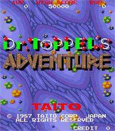 Title screen of Dr. Toppel's Adventure on the Arcade.