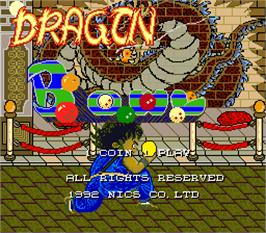 Title screen of Dragon Bowl on the Arcade.