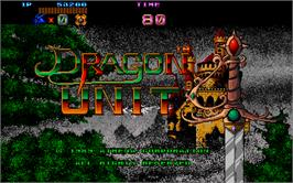 Title screen of Dragon Unit / Castle of Dragon on the Arcade.