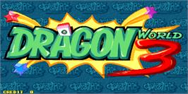 Title screen of Dragon World 3 on the Arcade.