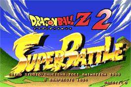 Title screen of Dragonball Z 2 - Super Battle on the Arcade.