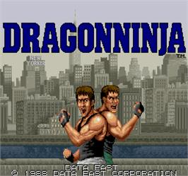 Title screen of Dragonninja on the Arcade.