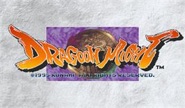 Title screen of Dragoon Might on the Arcade.