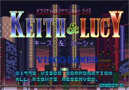 Title screen of Dramatic Adventure Quiz Keith & Lucy on the Arcade.