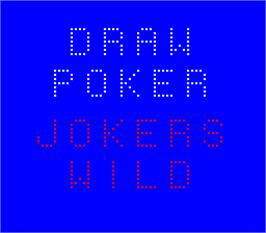 Title screen of Draw Poker Joker's Wild on the Arcade.