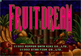Title screen of Dream Fruit on the Arcade.