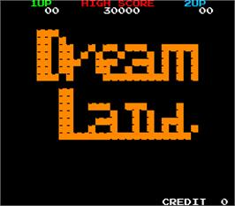 Title screen of Dream Land / Super Dream Land on the Arcade.