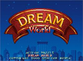 Title screen of Dream World on the Arcade.