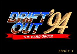 Title screen of Drift Out '94 - The Hard Order on the Arcade.