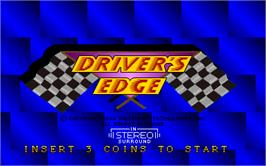 Title screen of Driver's Edge on the Arcade.