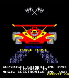 Title screen of Driving Force on the Arcade.