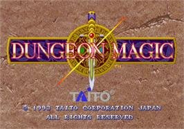 Title screen of Dungeon Magic on the Arcade.