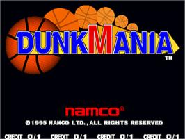 Title screen of Dunk Mania on the Arcade.