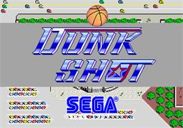 Title screen of Dunk Shot on the Arcade.