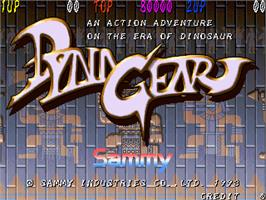 Title screen of Dyna Gear on the Arcade.
