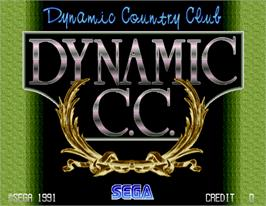 Title screen of Dynamic Country Club on the Arcade.