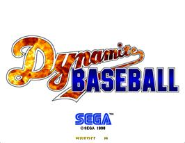Title screen of Dynamite Baseball '97 on the Arcade.