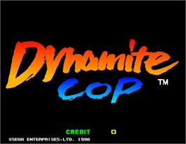 Title screen of Dynamite Cop on the Arcade.