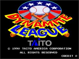 Title screen of Dynamite League on the Arcade.