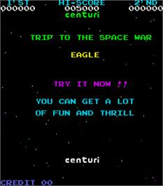 Title screen of Eagle on the Arcade.