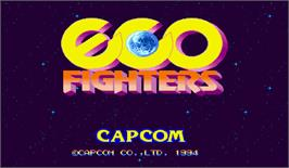 Title screen of Eco Fighters on the Arcade.