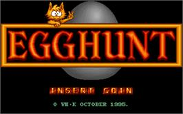 Title screen of Egg Hunt on the Arcade.