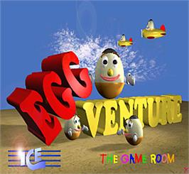Title screen of Egg Venture on the Arcade.