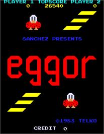 Title screen of Eggor on the Arcade.
