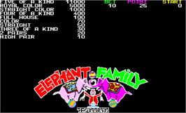 Title screen of Elephant Family on the Arcade.