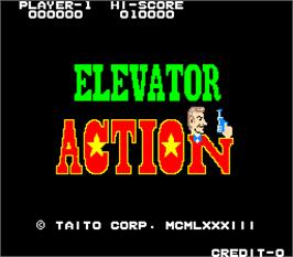 Title screen of Elevator Action on the Arcade.