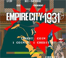 Title screen of Empire City: 1931 on the Arcade.