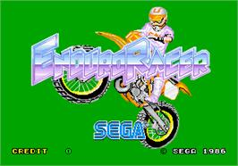 Title screen of Enduro Racer on the Arcade.