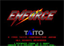 Title screen of Enforce on the Arcade.