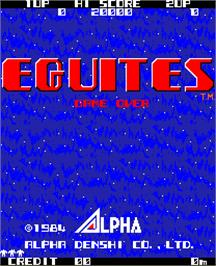 Title screen of Equites on the Arcade.