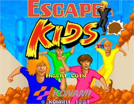 Title screen of Escape Kids on the Arcade.